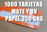 Tarjetas Mate UV